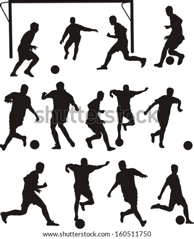 soccer or football icons - team sport - stock vector