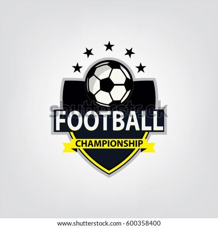 soccer football logo design vector illustration stock vector rh shutterstock com football logo design png football logo design your own free