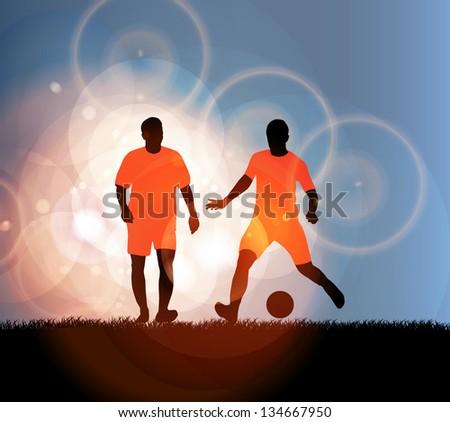 Soccer player - stock vector
