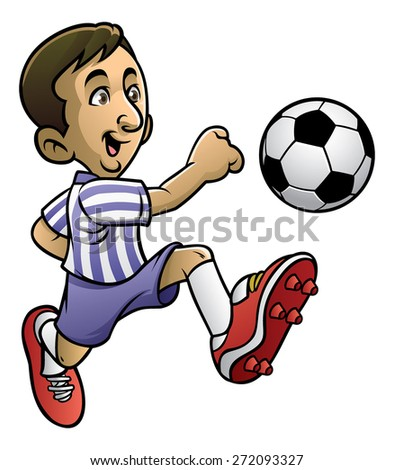 soccer player playing the ball
