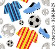 soccer seamless pattern - stock vector
