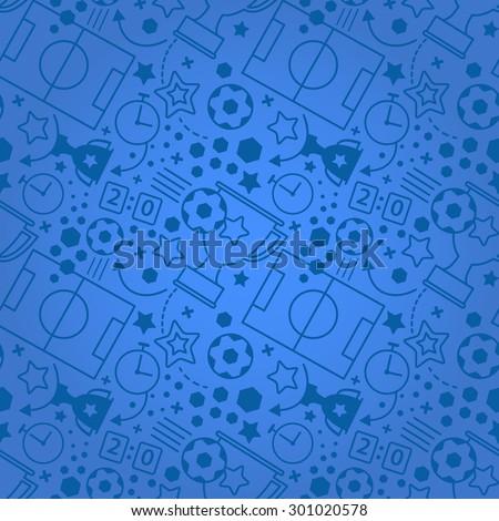 Soccer seamless pattern. Sport vector  background. - stock vector