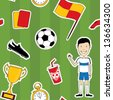 Soccer set seamless - stock