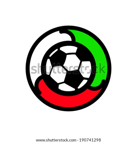 Soccer sign Branding Identity Corporate vector logo design template Isolated on a white background - stock vector