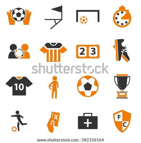 Soccer simply icons for web and user interfaces