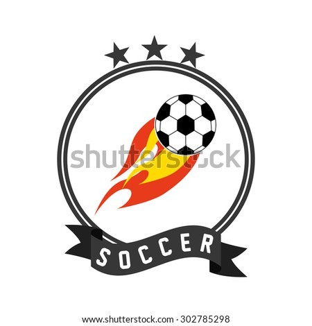 soccer sport design, vector illustration eps10 graphic  - stock vector