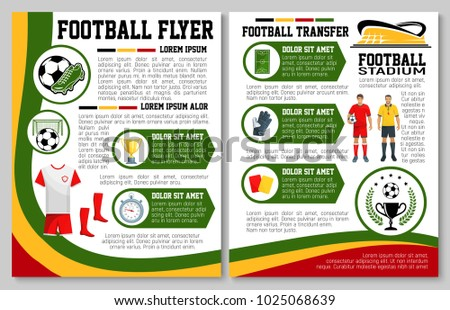 Soccer Sport Flyer Design Template Football Stock Vector (2018 ...