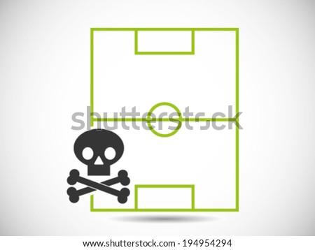 Soccer Stadium Mortality Riot - stock vector