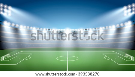 Soccer Stadium with spot light.