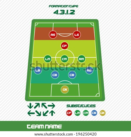 soccer strategy - stock vector