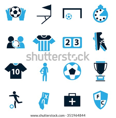 Soccer symbol for web icons
