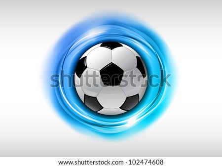soccer symbol on the blue effects - stock vector