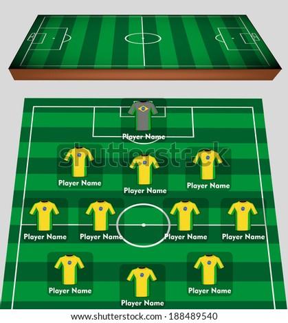 Soccer team - stock vector