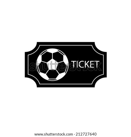 Soccer Ticket - vector icon - stock vector
