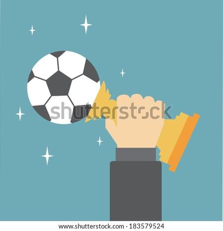 Soccer Trophy - stock vector