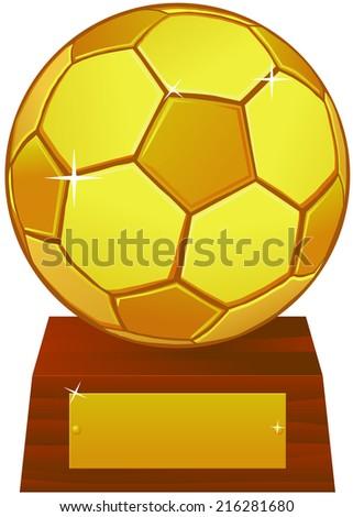 Soccer trophy vector - stock vector