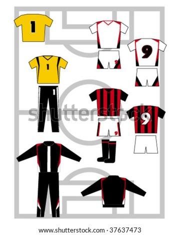 soccer uniform - stock vector