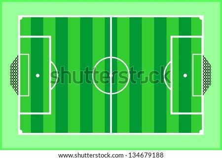 Soccer, vector - stock vector