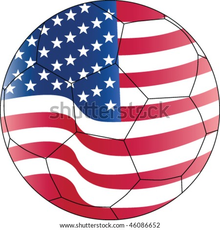 Soccer vector ball The United States of America (USA) - stock vector