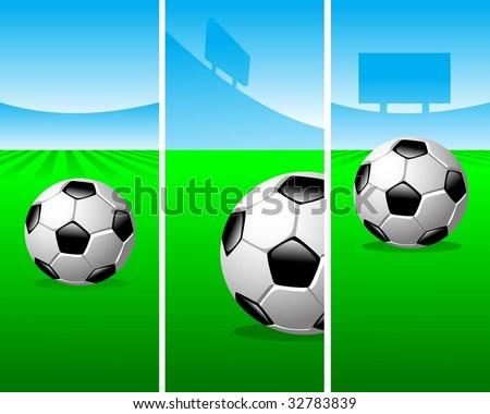 soccer vertical banners - stock vector