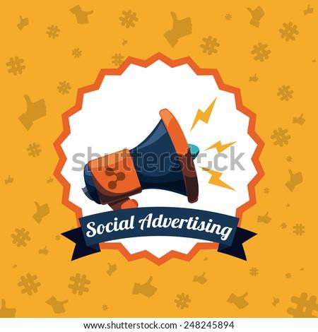 social advertising design, vector illustration eps10 graphic  - stock vector
