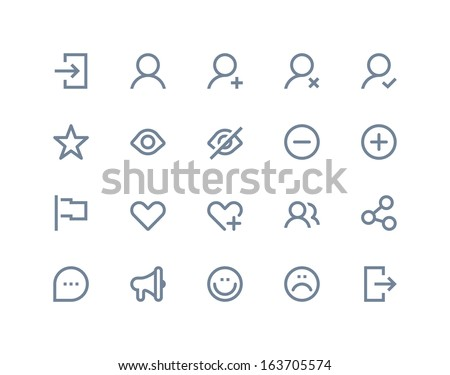 Social and communication icons. Line series - stock vector