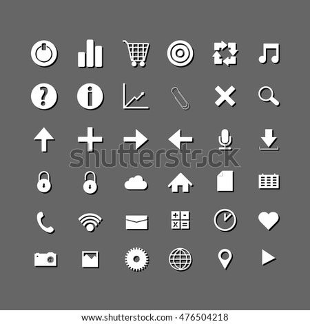 Social and media white icons