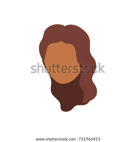 social avatar woman with hairstyle design