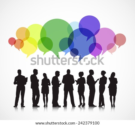 Social Business Gathering - stock vector
