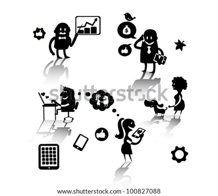 social cartoon - stock vector