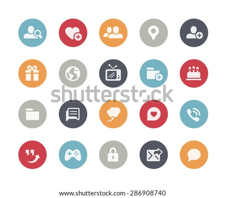 Social Communications Icons // Classics Series - stock vector