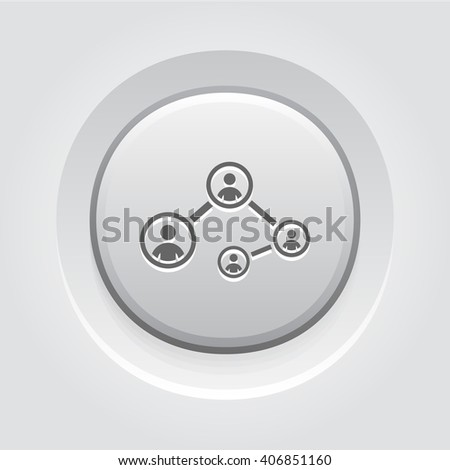 Social Connections Icon - stock vector