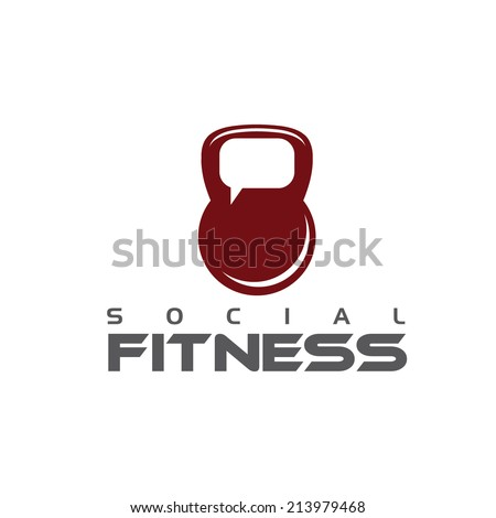 social fitness concept - stock vector