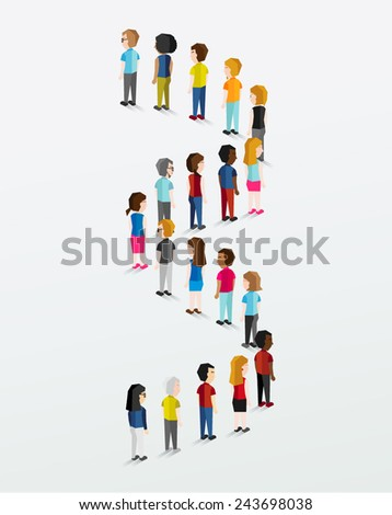 Social Groups of People Icon Vector Design