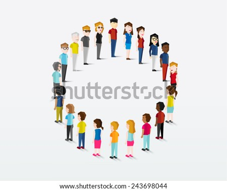 Social Groups of People Icon Vector Design - stock vector
