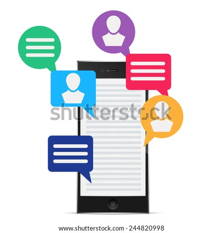 social icon group element phone pc display, excellent vector illustration, EPS 10 - stock vector