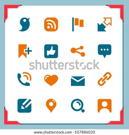 Social icons - stock vector