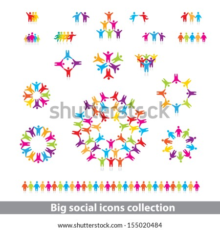 social icons collection - vector concept - stock vector