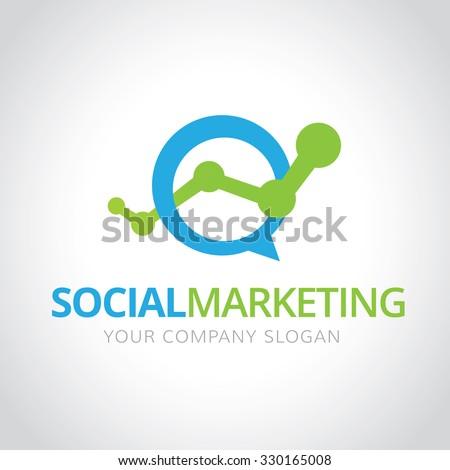 Economy symbol stock images royalty free images vectors social marketing logomarketing logo vector logo template thecheapjerseys Choice Image