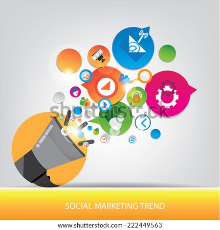 Social marketing trend design