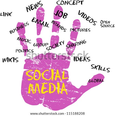 Social media and network icon - stock vector