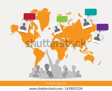 Social Media and network illustration. Vector - stock vector