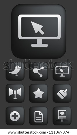social media apps buttons set, vector - stock vector