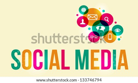 Social media background of the icons vector. EPS10 file version. This illustration contains transparencies and is layered for easy manipulation and custom coloring. - stock vector