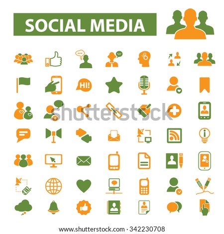 social media, blog, community, user, avatar  icons, signs vector concept set for infographics, mobile, website, application  - stock vector
