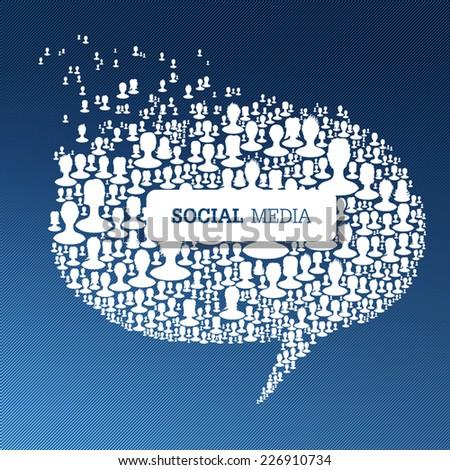 Social Media Bubble Speech Concept. Vector - stock vector