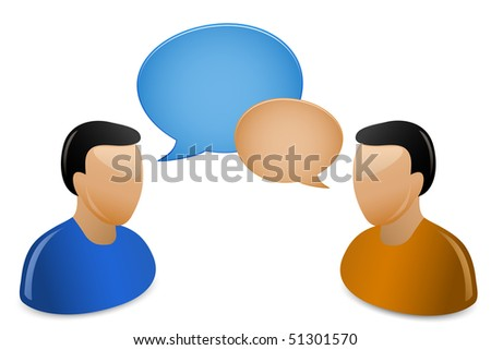 Social Media. Communication Concept. A bunch of people having a conversations. - stock vector