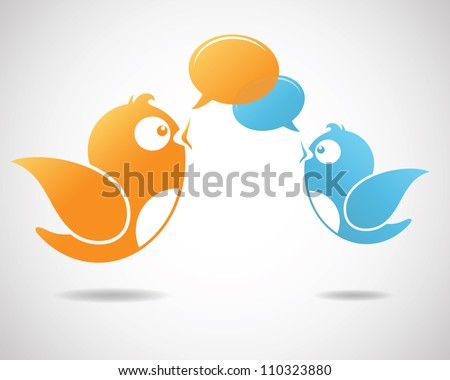 Social Media Communication (Illustration of social media) - stock vector
