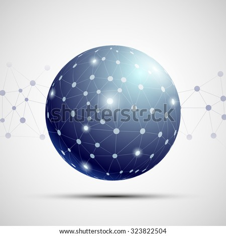 Social media communications. Technology background. Stock vector illustration. - stock vector
