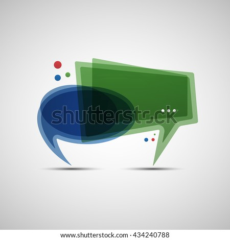 Social media concept of communication. Vector illustration of abstract speech bubbles banner for your blog design - stock vector
